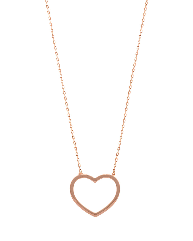 Count Your Blessings Heart Necklace, Rose Gold