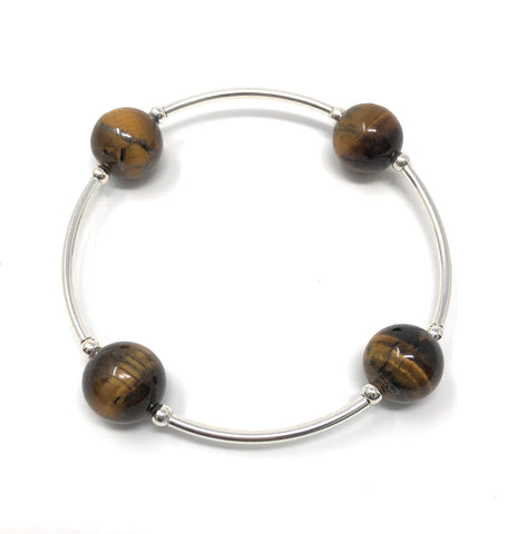 Blessing Bracelet TIGERS EYE Gemstone 12mm