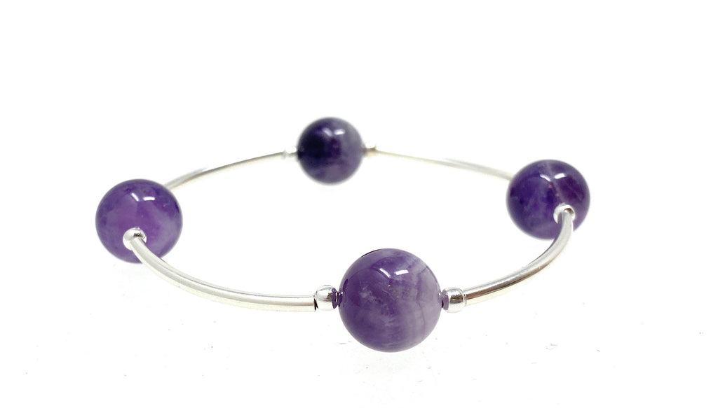 Count Your Blessings AMETHYST Gemstone Bracelet 12mm