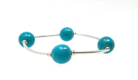 Count Your Blessings Bracelet TURQUOISE Gemstone 12mm