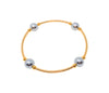 "NEW Mini Blessing Bracelets, GOLD 14/20 & SILVER Pearl 4 Bead - 8mm, 6.5"" Wrist"