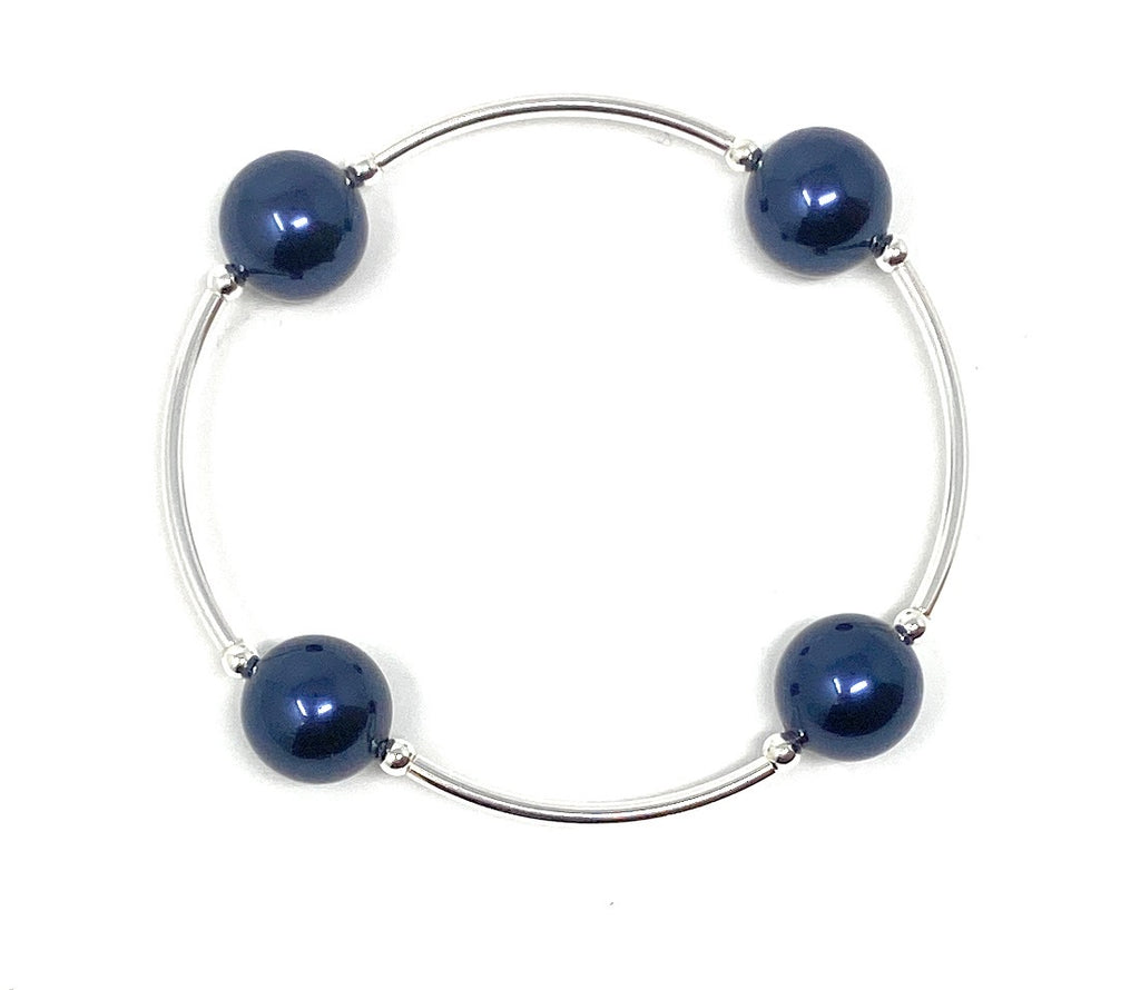 Count Your Blessings Night Blue Bracelet