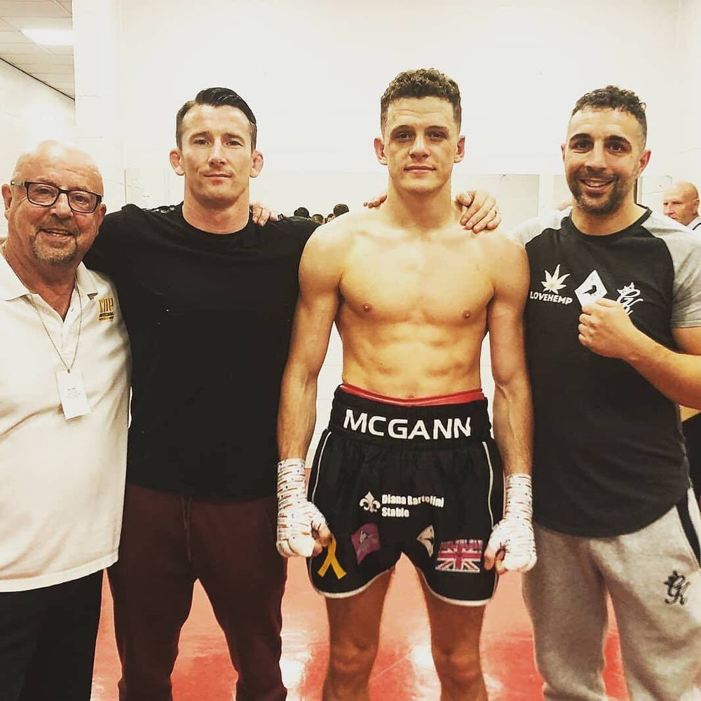 Love Hemp in Manchester supporting sponsored athlete Jack McGann's Boxing Debut