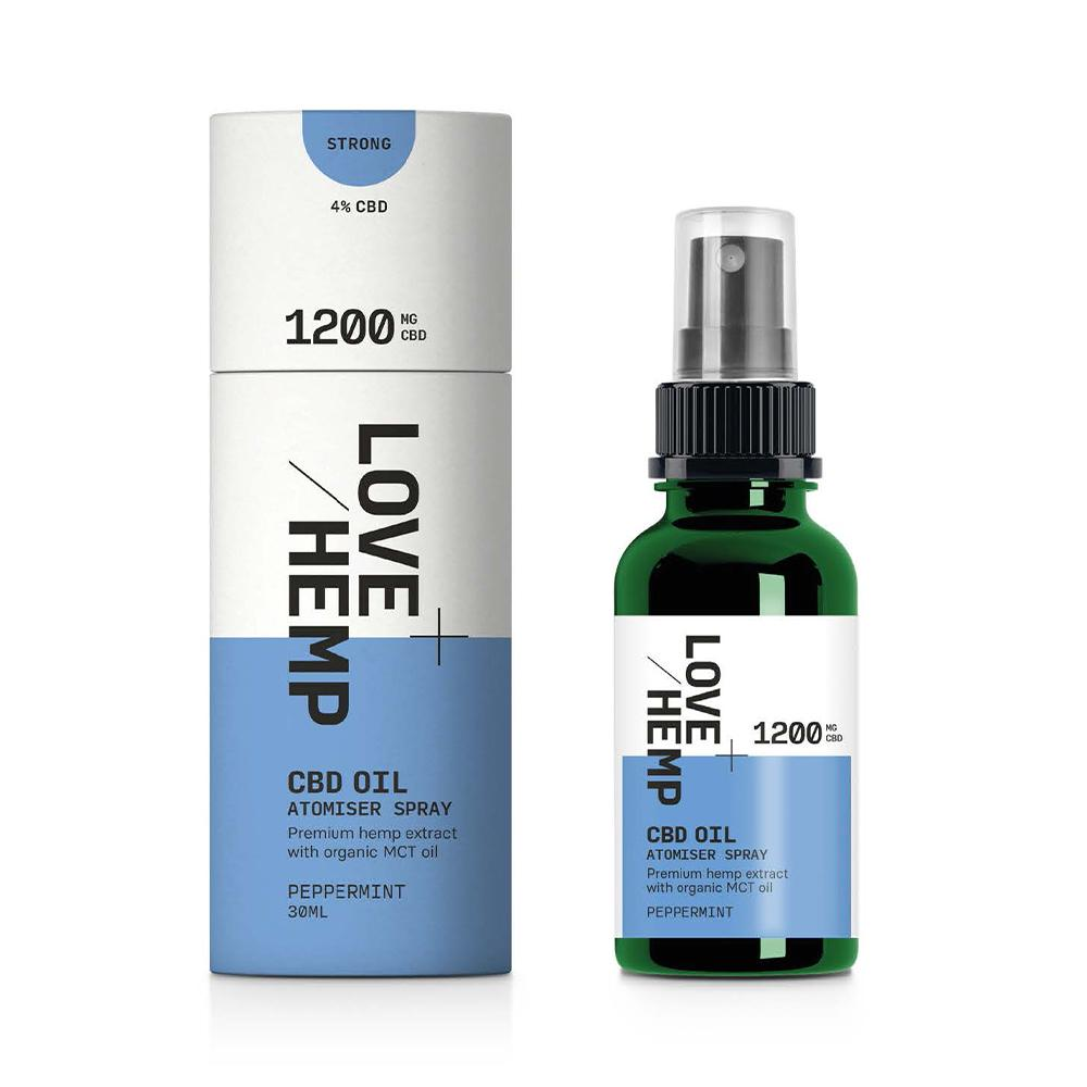 Love Hemp® CBD Oil Atomiser Spray - 1,200mg CBD / 4% / 30ml - Love Hemp UK