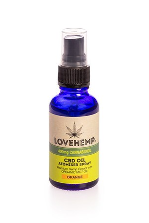 Load image into Gallery viewer, Love Hemp® 400mg CBD Oil Spray - 30ml - Orange