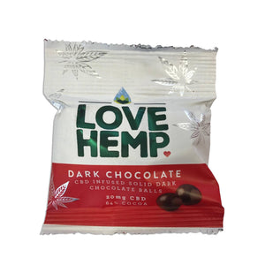 Love Hemp® CBD Chocolate Bites 20mg CBD - 50g