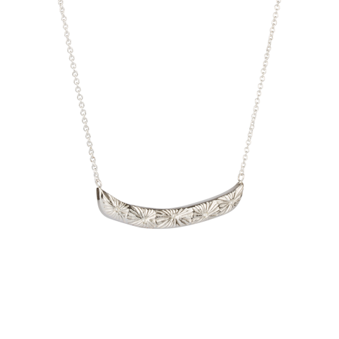 Luminous Bar Necklace Sterling silver