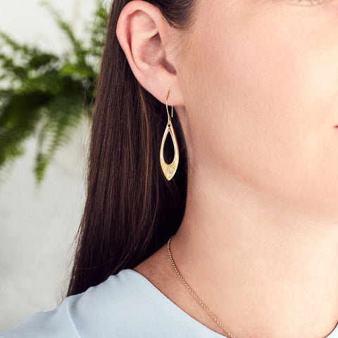Yellow Gold Flux Earrings by Corey Egan
