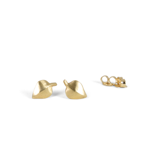 Yellow Gold Aspen Stud Earrings by Corey Egan