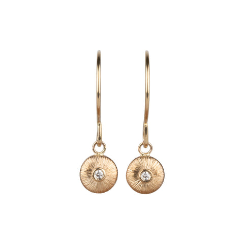 Gold and Diamond Aurora Dangle Earrings by Corey Egan