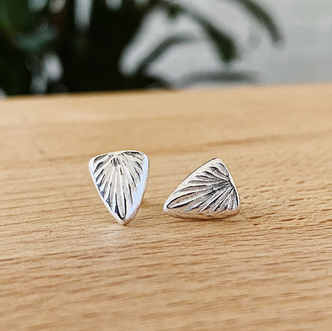Silver Spark Studs by Corey Egan