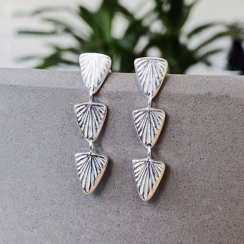 Silver Flicker Earrings by Corey Egan
