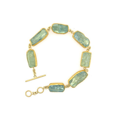 Large Aquamarine Crystal Bracelet