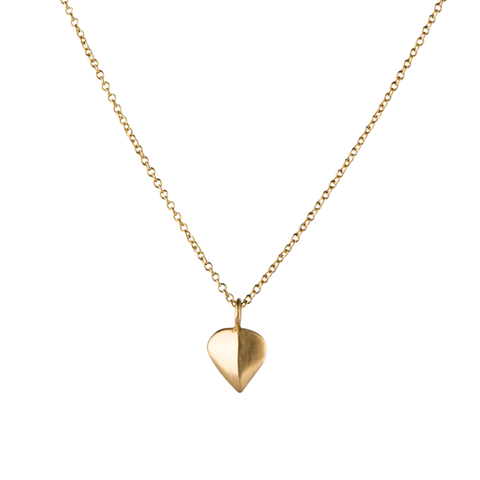 Gold Aspen Leaf Necklace by Corey Egan