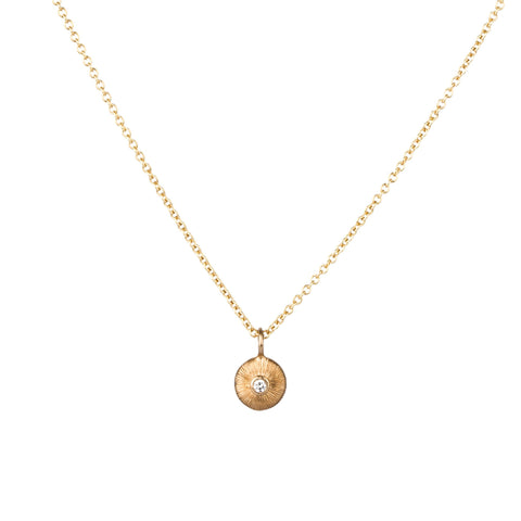 Gold and Diamond Nimbus Necklace by Corey Egan