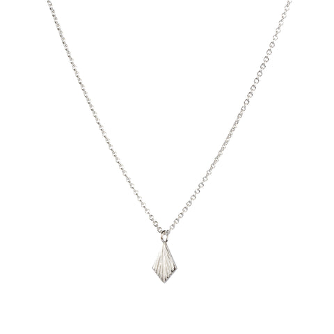Flame Silver Necklace by Corey Egan