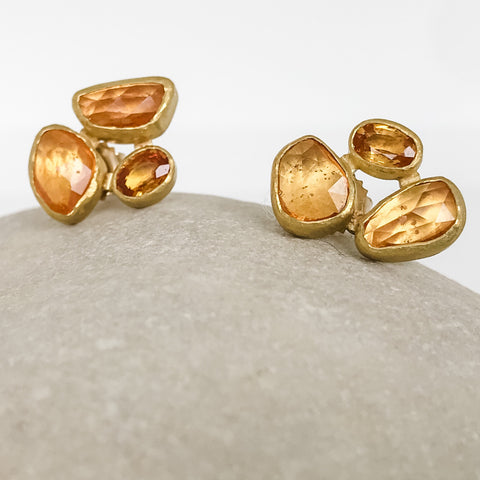 Yellow Sapphire Trio Earrings