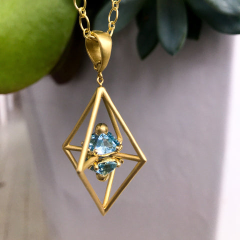 Intersection Aquamarine Pendant