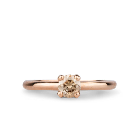 Aleta Champagne Diamond and Rose Gold Ring by Corey Egan