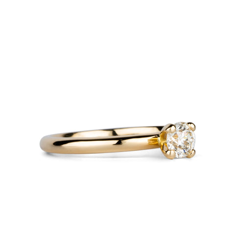Old Mine Cut Diamond Aleta Ring in 14k Yellow Gold by Corey Egan
