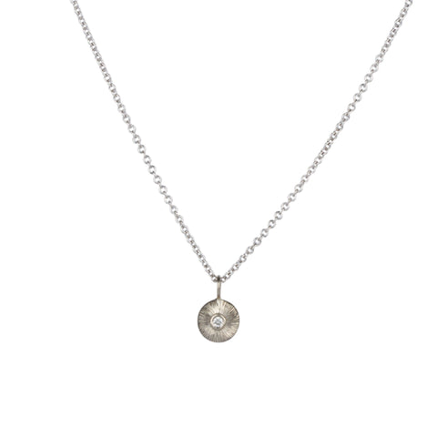 Silver and Diamond Nimbus Necklace