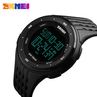 SKMEI 1219 Men Digital Watch LED Display Waterproof Male Wristwatches Chronograph Calendar Alarm Sport Watches Relogio Masculino