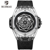 RUIMAS Luxury Top Brand Quartz Watches Men Leather Strap Military Sports Wristwatch Man Waterproof Watch Relogios Masculino 533G