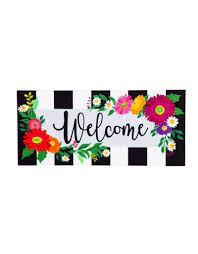 Floral Stripe Welcome Insert