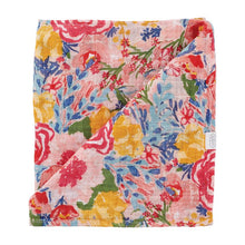 Load image into Gallery viewer, Rainbow Floral Muslin Swaddle