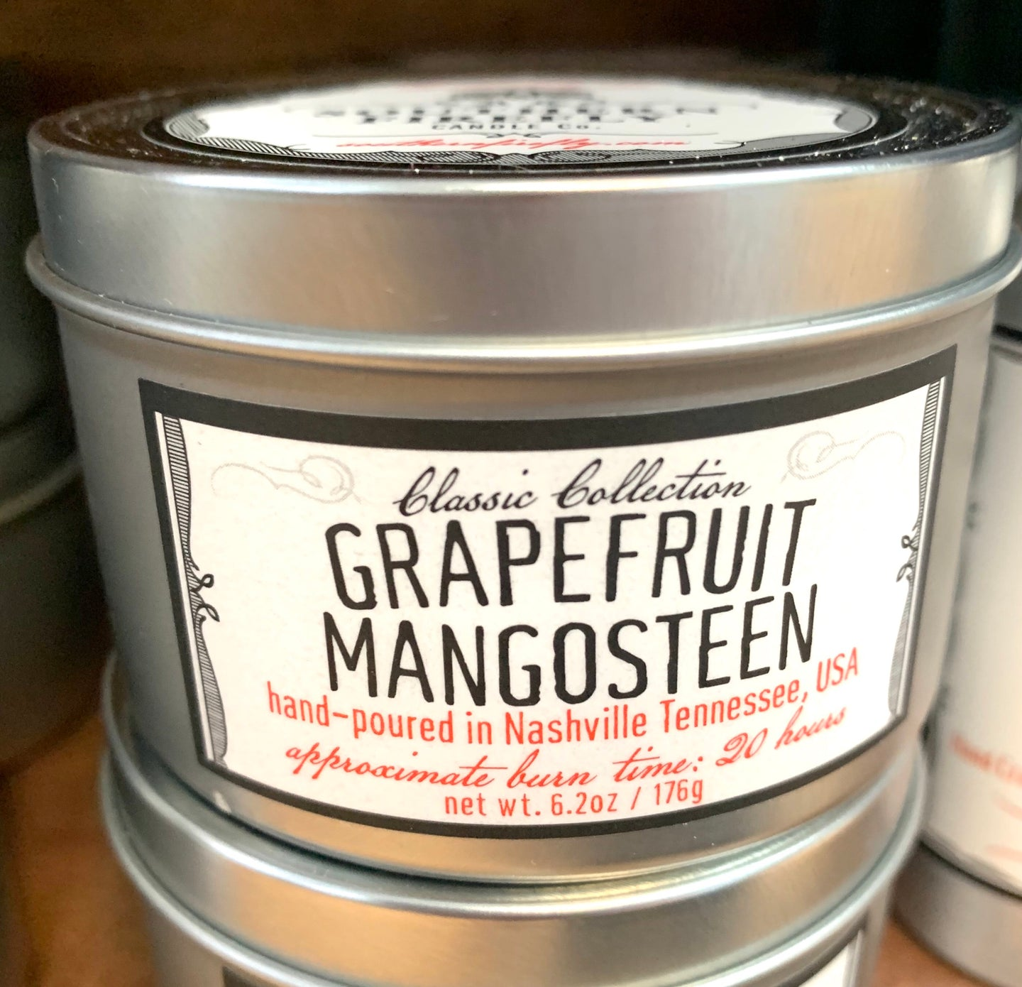 6oz Grapefruit Mango Tin Candle