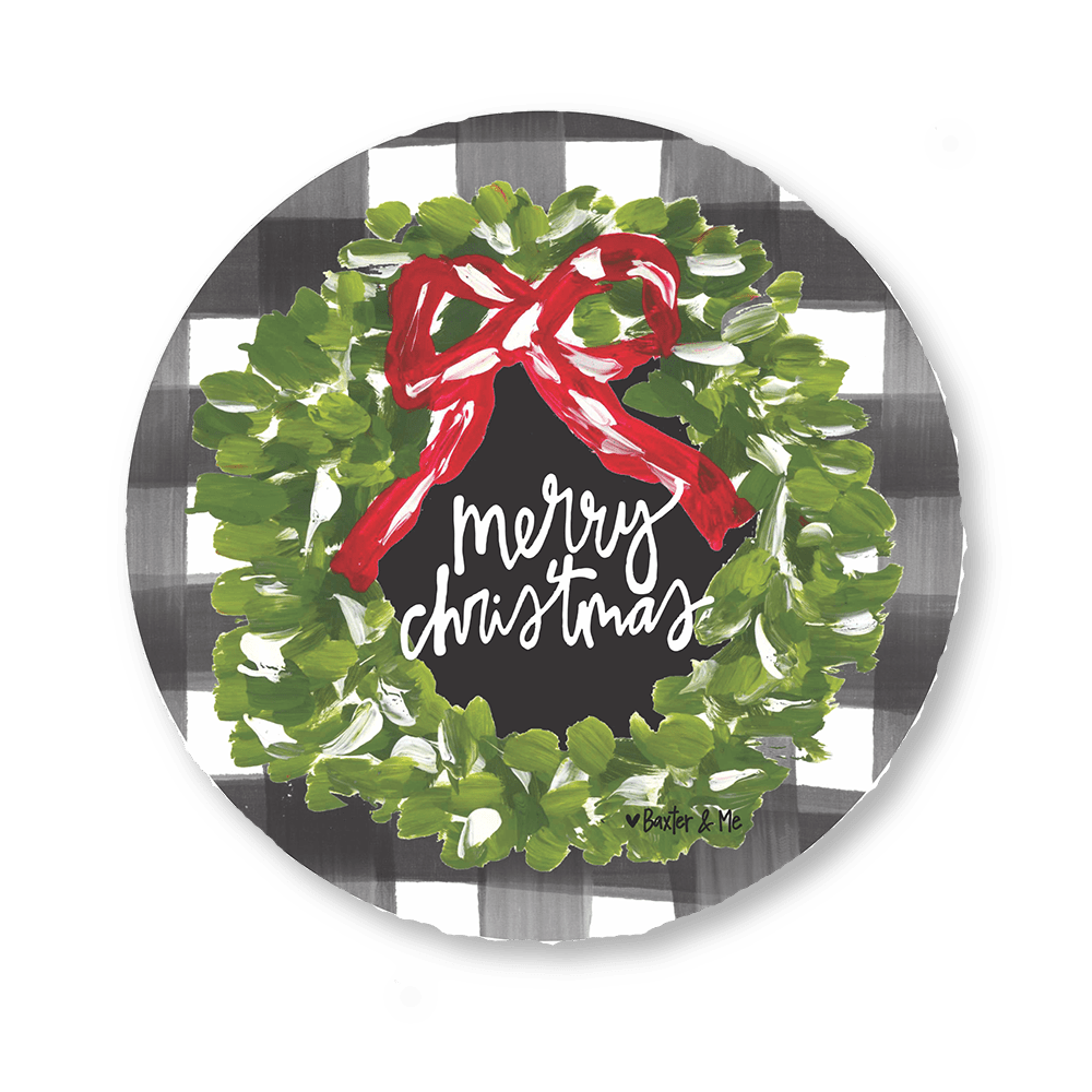 Merry Christmas Wreath Door Hanger