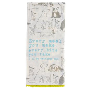 Dog Flour Sack Tea Towel