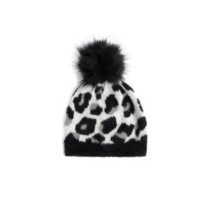 Frenchy Hat Black & Leopard