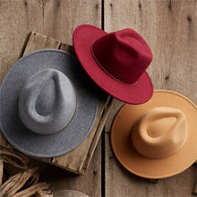 Load image into Gallery viewer, Mud Pie Gold Bar Fedoras