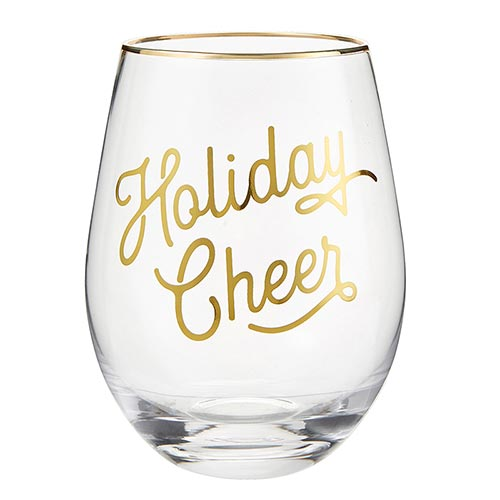 Holiday Cheer Wine Glass
