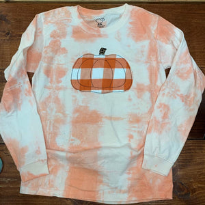Pumpkin Applique Tie Dye