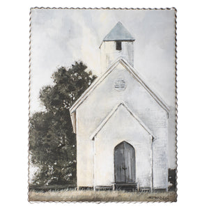 Whitewashed Church Print