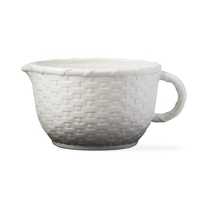 White Basket Weave Batter Bowl