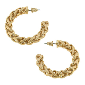 Cora Gold Chain Hoop Earring
