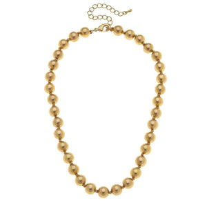 Chloe Beaded Necklace Gold