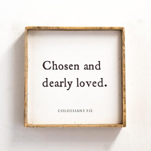Chosen & Dearly Loved