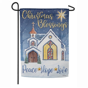 Christmas Blessings Garden Flag