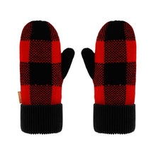 Load image into Gallery viewer, Lumberjack Red Mittens