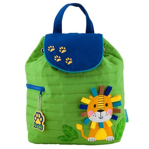 Lion Quilted Backpack