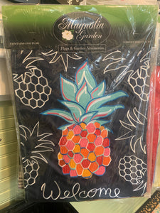 Whimsy Pineapple Garden Flag