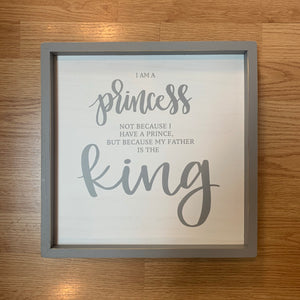 Princess & Father Framed Board