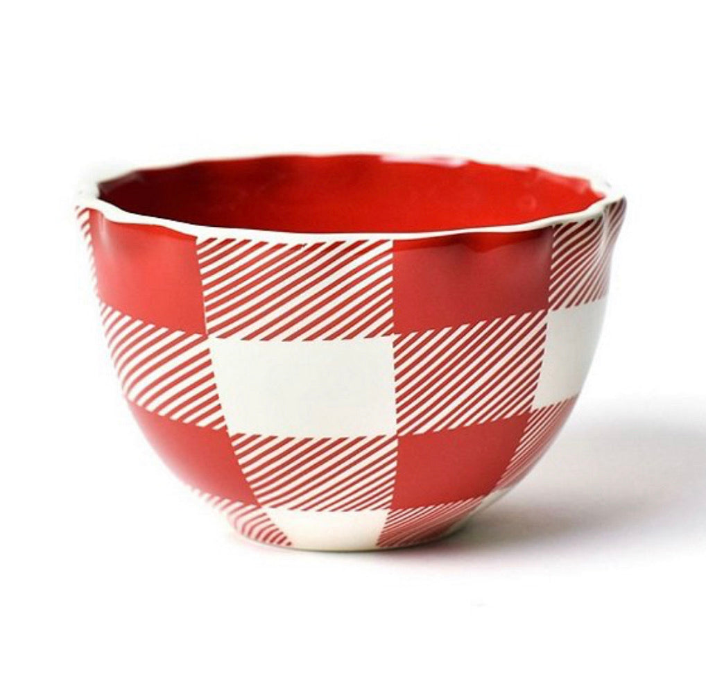 Buffalo Ruffle Small Bowl - Red