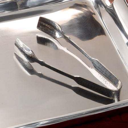Dimpled Steel Ice Tongs