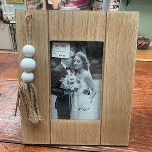 Young's Wood Frame With Bead Accents