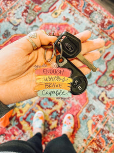 You Are Enough Keychain